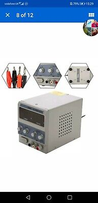 15V 5A Digital DC Power Supply Variable Adjustable  Bench Test Repair Tools • 37£