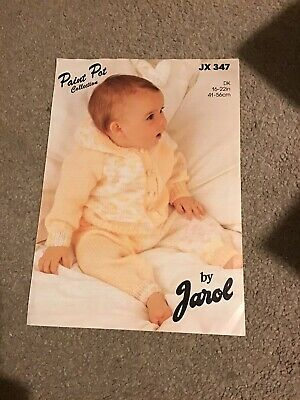 Jarol Baby Knitting Patterns JX 347 Hooded Jacket & Pants • 1£