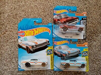 Hot Wheels Cars X2 Chevy Nova Gulf Racing • 1.99£
