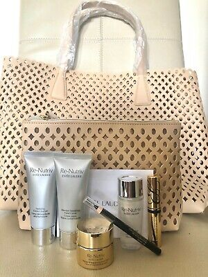 Estee Lauder Re-nutriv Gift Set 8 Pieces Includes Tote +cosmetic Bag Gift XMas • 39.99£