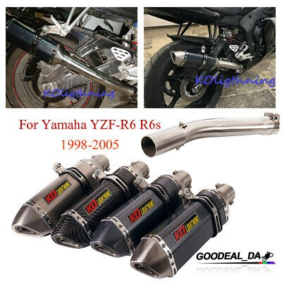 $101.59 • Buy Motorcycle Mid Link Pipe Exhaust Tip DB Killer For Yamaha YZF-R6 R6s 1998-2005