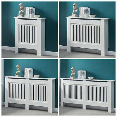 White MDF Wood Radiator Cover Grill Shelf Cabinet Modern Traditional Furniture • 42.99£