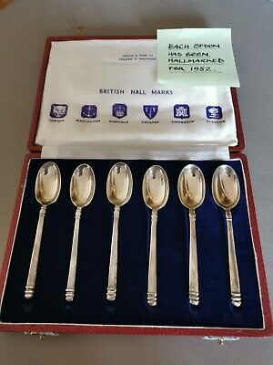 Mappin & Webb Silver Spoons In Clasped Box • 40£