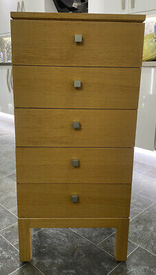 Marks And Spencer Oak Tall 5 Drawer Cabinet • 50£