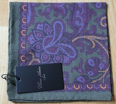 Cesare Attolini Wool & Silk Pocket Square Handkerchief. New With Tag • 18£
