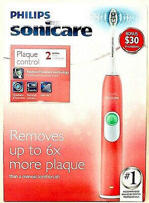 AU70.76 • Buy Philips Sonicare HX6211/47 Plaque Control Series 2 Coral Pink Sonic Toothbrush