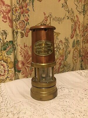 Ferndale Coal Mining Co. Miners Lamp Type  Copper Brass 16cm  • 14.99£