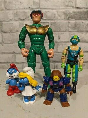 $ CDN0.99 • Buy Vintage Action Figure Toy LOT - GI JOE SMURFS Battle Beasts Sectaurs