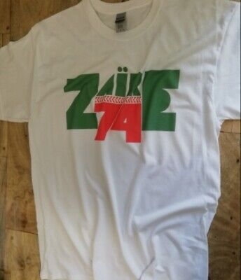 £11.95 • Buy Zaire 74 T Shirt African Music Festival Soul Boxing Ali Foreman James Brown F100