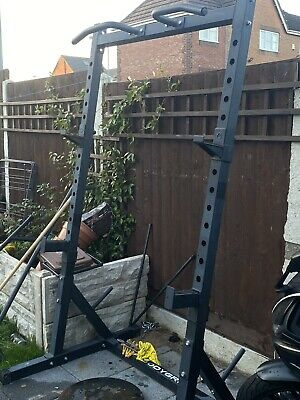 EVERYTHING!! MINI GYM Squat Rack, Weights, Olympic Bar And Bench • 575£