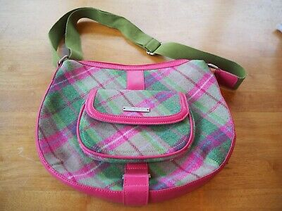 Gorgeous Classic Ness Margot Shoulder/cross Body Bag In Green And Pink Tartan • 24.99£