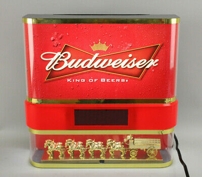 $ CDN288.72 • Buy Rare Vintage Everbrite Budweiser Beer Lamp Light W/Clock LED & Clydesdale Horses