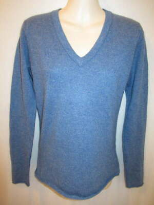 $17.95 • Buy Fenn Wright Manson 100% Cashmere Blue V-Neck Sweater S May Fit XS