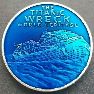 THE TITANIC WRECK World Heritage Site Challenge Coin FREE COIN STAND AND BRAND  • 4.99£