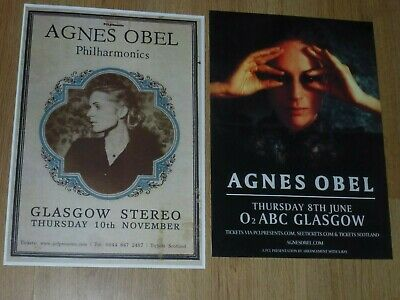 Agnes Obel - Collection Of Scottish Tour Glasgow Show Concert Gig Posters X 2 • 7.99£