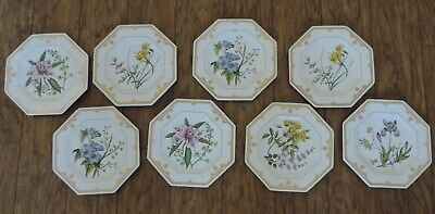 Spode Octangular Plates The Cabinet Collection Dessert Plates  -8 Available • 31.47£