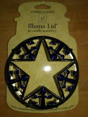 Yankee Candle Silver Illuma Jar Lid Topper With Blue Anchors  • 5£