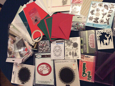 Craft Room Clearout Christmas Cardmaking Joblot  Bundle • 11.50£