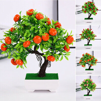 £7.81 • Buy Artificial Flower Plants In Pot Fake Home Decor Wedding Party Christmas Ornament