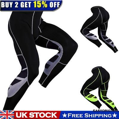 Mens Compression Under Skin Base Layer Pants Leggings Gym Sport Running Trousers • 11.54£