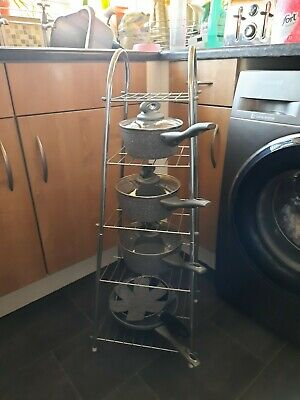 4 Tier Sauce Pan Stand Silver • 7.50£