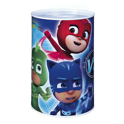 Disney PJ MASKS MONEY TIN Boys Metal Coin Counting Savings Box Piggy Bank Save • 3.49£
