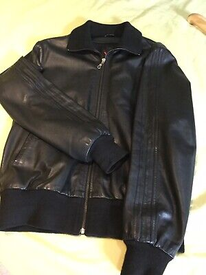 "Y3 Leather Jacket  Rare Size M All Black  Great Leather Adidas Fits Like 38/40"" • 415£"