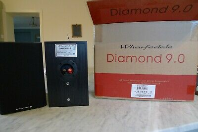 Wharfedale Diamond 9.0 Stereo Speakers Pair - Black. Excellent Condition • 12.30£