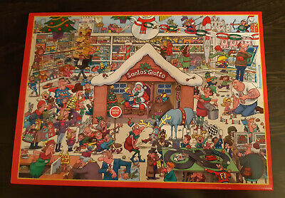 1000 Piece Jigsaw Puzzle - Santa's Grotto - Christmas - Art By Lee Fearnley • 1.50£