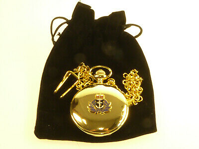 £14.99 • Buy WRNS Womens Royal Naval Service Gold Plated Deluxe Pocket Watch And Keeper Chain