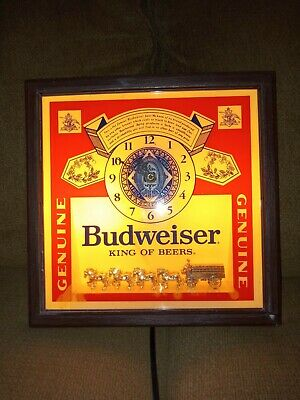 $ CDN38.93 • Buy Budweiser Vintage Clydesdales Deluxe Lighted Sign Clock