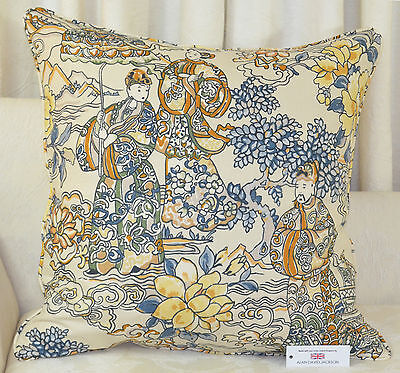 £15 • Buy Handmade CUSHION COVER 25 X25  63.5cm Sq Textra Imperial Garden Oriental Piped