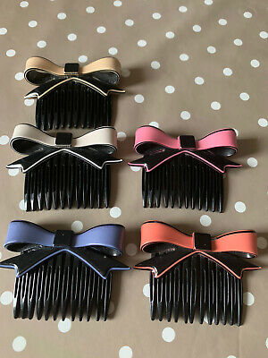 Hair Comb Slides 1980s Retro Vintage Hairbow Style X5 • 10£