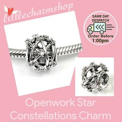 AU41.90 • Buy New Authentic Genuine PANDORA Openwork Star Constellations Charm - 799240C01