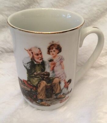 $ CDN5.18 • Buy Norman Rockwell Museum Mug Cup The Cobbler 1982 Seal Of Authenticity Vintage