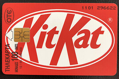 Kitkat Phone Card Greek Rare Limited Edition Greece • 150£