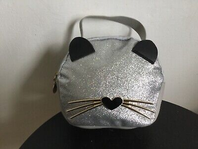Cute Cat Small Silver Bag • 7.99£