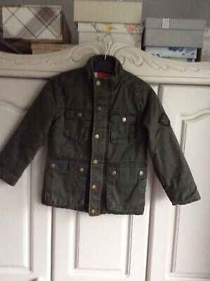 Joules Barnham Boys Jacket/coat 4 Yrs.evergreen Faux Wax Cotton.lovely Condition • 5£
