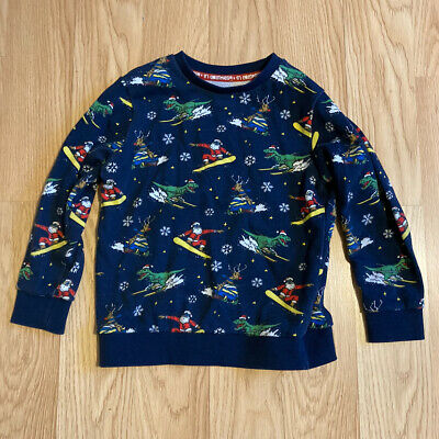 Boys Tu Christmas Jumper Sweatshirt Age 5 Years Santa Rudolph Dinosaur Snow • 2.60£