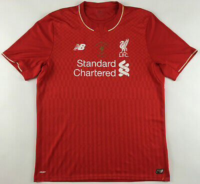 £39.99 • Buy FC Liverpool 2015 2016 Capital One Cup Final New Balance Jersey Shirt Home XL