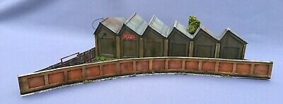 00 Gauge Corner Factory Warehouse Scratch Built With Lighting Weathered  • 19.95£