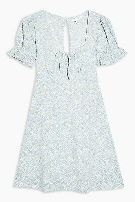 Topshop Light Blue Mini Flappy Dress With Open Back, Size 12 • 1.30£