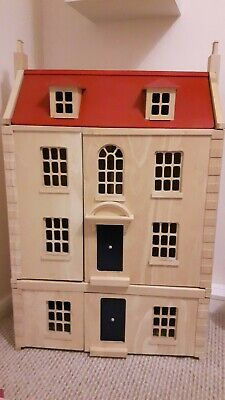 Wooden Dolls House Pintoy Marlborough House With Basement And Furniture • 9.99£