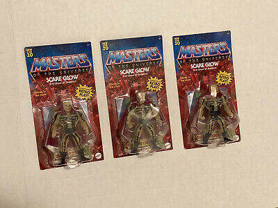 $89.99 • Buy MASTERS OF THE UNIVERSE ORIGINS SCARE GLOW MOTU ACTION FIGURE IN HAND X3 Lot #2