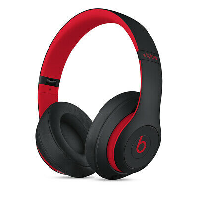 BEATS By Dr. Dre Studio 3 Wireless Over-Ear Headphones  Black/Red - NEW  • 95£
