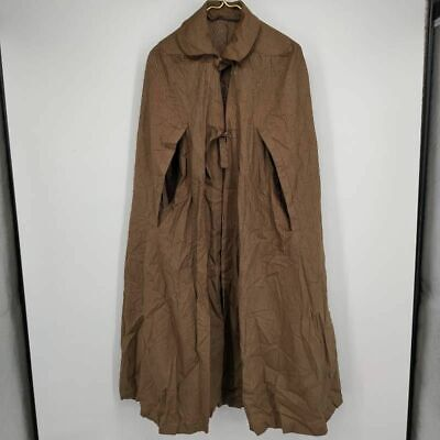 $ CDN77.89 • Buy Count Romi Womens Long Cape Poncho Brown Tie Front Collared Arm Holes Vintage OS