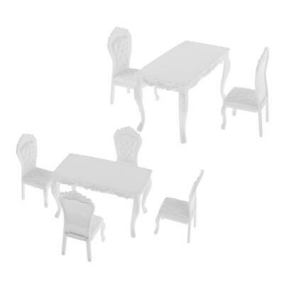 $17.86 • Buy 1/6 White Table And Chair Set For 12'' Enterbay Figures Accessories
