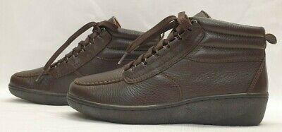 PAVERS WIDE Ladies Womens Boots Size UK 4 EU 37 Brown Leather Ankle Lace Up • 29.04£