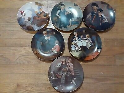 $ CDN18.55 • Buy Lot Of 6 Knowles Norman Rockwell Collectors Plates