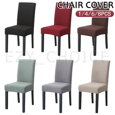 AU35.99 • Buy Dining Chair Covers Soft Thick Spandex Slip Cover Stretch Wedding Banquet Party